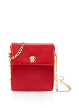 Chain Strap Box Crossbody Bag - 1124074392008