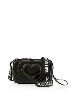 Good Life Graphic Heart Crossbody Bag - 1124074392212
