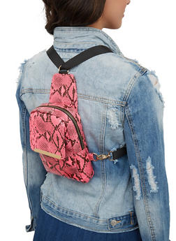 Snake Print Convertible Backpack - 1124074396958