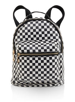 Checkered Mini Backpack - 1124074397996