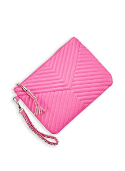Chevron Stitch Clutch - 1124074399016