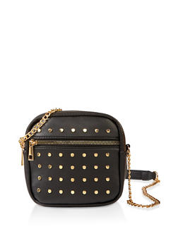 Studded Square Crossbody Bag - 1124074399283