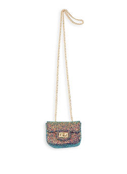 Mini Glitter Crossbody Satchel - 1124074399299
