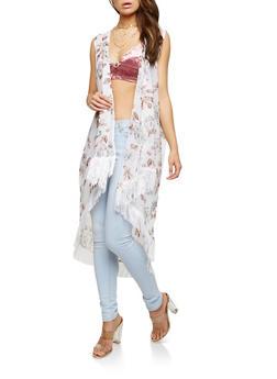 Floral Fringe Duster - 1125018435559