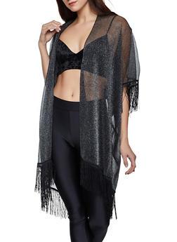 Fringe Lurex Kimono - 1125057690090