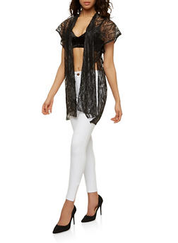 Shimmer Lace Kimono - 1125067448037