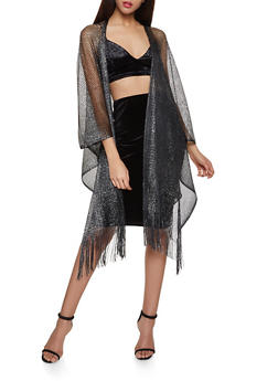 Shimmer Knit Fishnet Kimono - 1125067448080