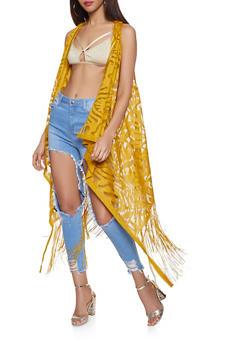 Fishnet Burnout Kimono - 1125067449608