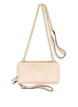 Heart Stitched Crossbody Wallet - 1126061593300