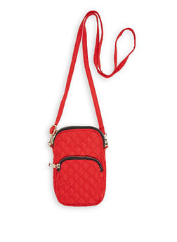Quilted Cell Phone Crossbody Bag - 1126067440002