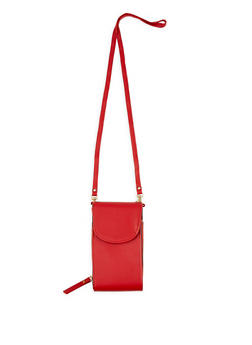 Zip Faux Leather Crossbody Bag - 1126067440116