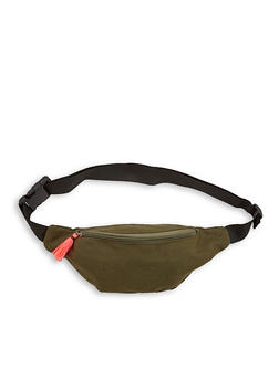 Tassel Zip Canvas Fanny Pack - 1126067440802