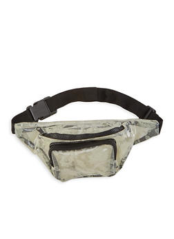 Clear Lace Print Fanny Pack - 1126067440883