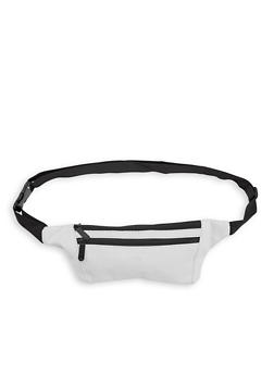 Slim Faux Leather Fanny Pack - 1126067441030