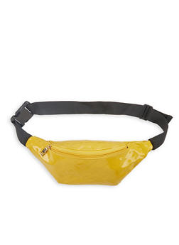 Faux Patent Leather Fanny Pack - 1126067441116