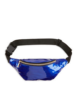 Faux Patent Leather Zip Fanny Pack - 1126067441118