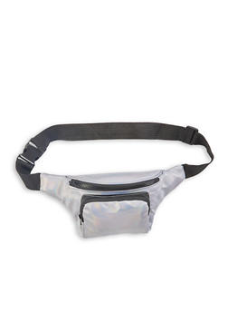 Holographic Faux Leather Fanny Pack - 1126067441119