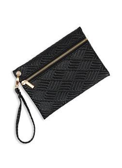 Textured Zip Wristlet - 1126067441126