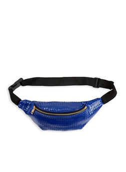 Textured Faux Leather Fanny Pack - 1126067441132