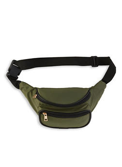 Double Zip Nylon Fanny Pack - 1126067441134