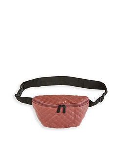 Quilted Faux Leather Fanny Pack - 1126067441143