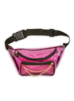 Clear Double Zip Fanny Pack - 1126067441408