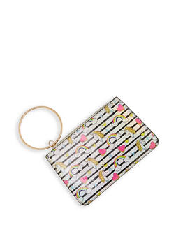 Unicorn Graphic Iridescent Clutch - 1126067442370