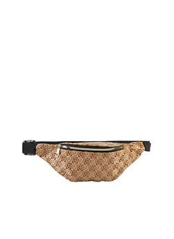 Heart Print Single Zip Fanny Pack - 1126067442719