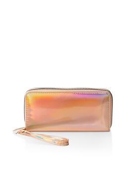 Iridescent Double Zip Wallet - 1126067442727