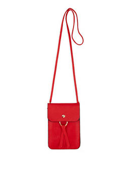 Slim Faux Leather Crossbody Bag - 1126067443301