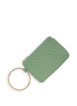 Quilted Metallic Ring Wristlet - 1126067443400