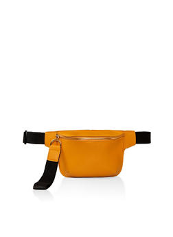 Faux Saffiano Leather Fanny Pack - 1126067445333
