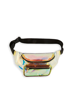 Iridescent Clear Double Zip Fanny Pack - 1126067445808