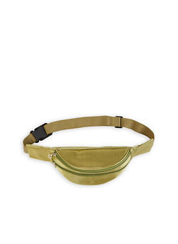 Double Zip Satin Fanny Pack - 1126067446008