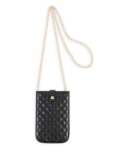 Quilted Chain Strap Crossbody Bag - 1126067446624