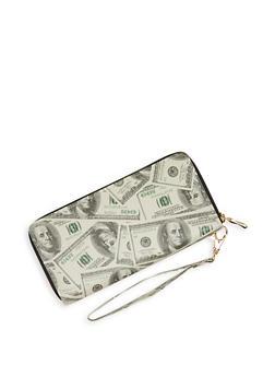 Money Print Zip Around Wallet - 1126067446809