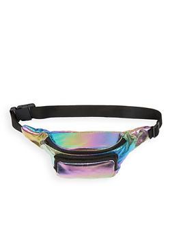 Iridescent Double Zip Fanny Pack - 1126067447784