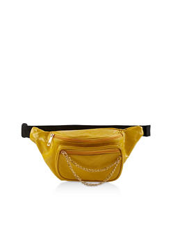 Quilted Faux Patent Leather Fanny Pack   1126067448019 - 1126067448019