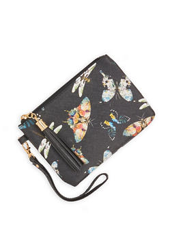 Butterfly Print Wristlet - 1126067448033