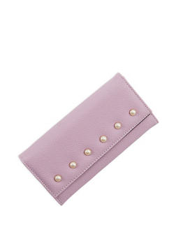 Faux Pearl Textured Wallet - 1126067448038