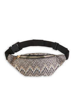 Shimmer Knit Zig Zag Fanny Pack - 1126067448039