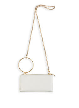 O Ring Faux Leather Crossbody Wallet - 1126067448042