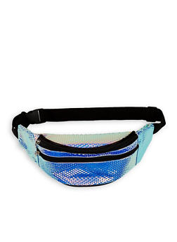 Iridescent Textured Fanny Pack - 1126067448067