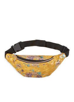 Floral Faux Patent Leather Fanny Pack - 1126067448074