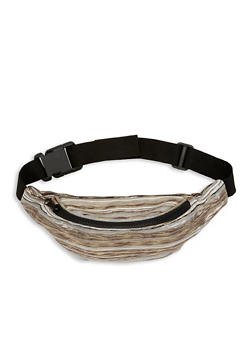 Striped Metallic Detail Fanny Pack - 1126067448133