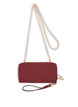 Double Zip Chain Crossbody Wallet - 1126067448709