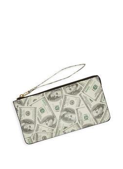 Dollar Bill Print Wristlet - 1126067448809