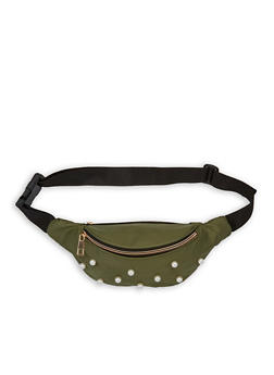 Faux Pearl Studded Fanny Pack - 1126067448811