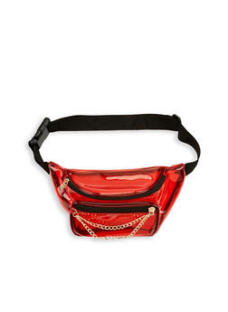 Chain Detail Clear Fanny Pack - 1126067448814