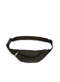 Quilted Faux Leather Fanny Pack - 1126067448850